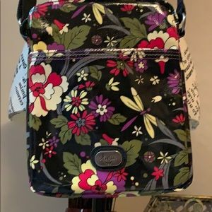 Lina Crossbody, Black Floral